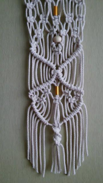 Tapiz Macramé. Woven in raw cotton fibers. Macrame tapestryMACRAME - LAS MOIRAS