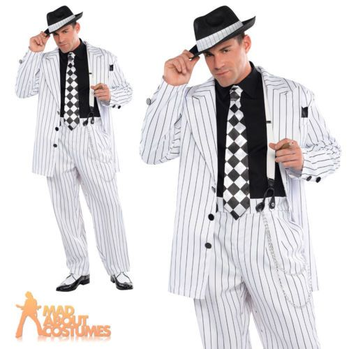 Adult pinstripe daddy #costume mens gangster #fancy #dress outfit + hat 20s outfi,  View more on the LINK: 	http://www.zeppy.io/product/gb/2/161732466958/