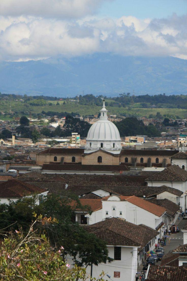 Popayán vista desde la iglesia de Belén. Foto por Gloria Vejarano