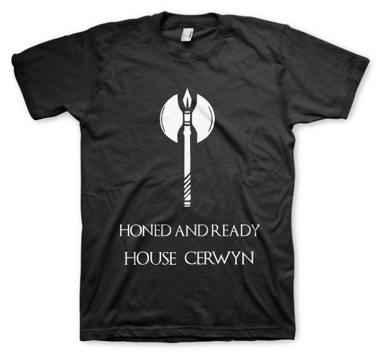 remeras color animal game of throne house cerwyn