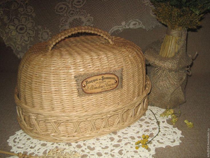 """Купить Хлебница плетеная в стиле """"кантри"""". - кантри стиль, винтажный стиль, деревенский стиль"""
