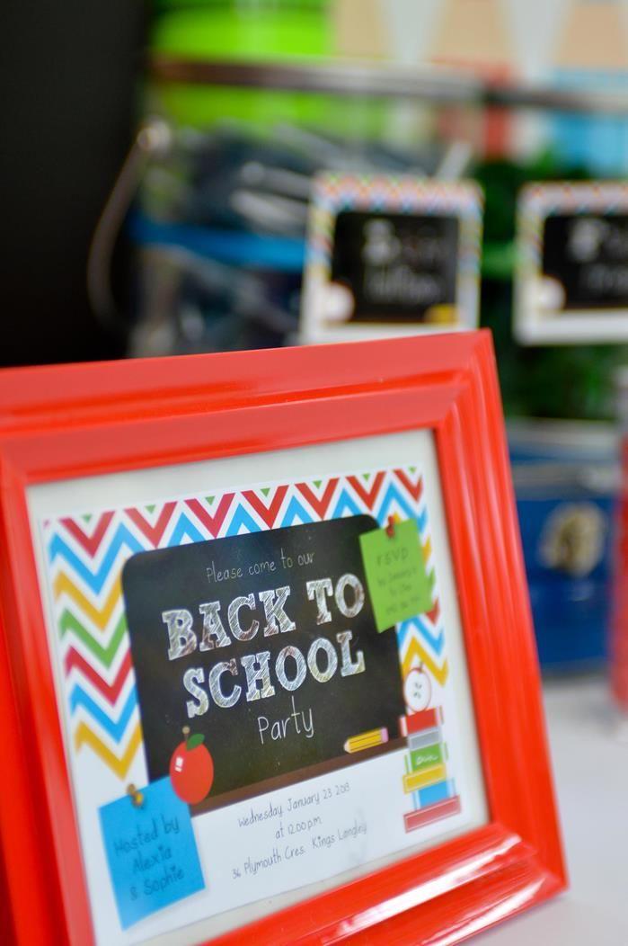 Rainbow Chevron Back to School Party via Kara's Party Ideas | Kara'sPartyIdeas.com #Chevron #BackToSchool #Bookworm #Teacher #PartyIdeas #Su...