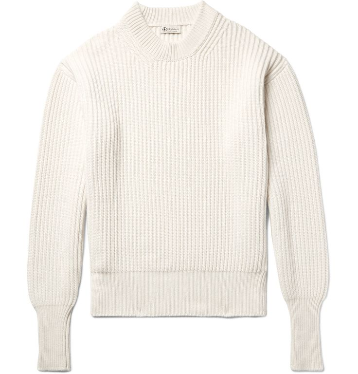 <a href='http://www.mrporter.com/mens/Designers/Connolly'>Connolly</a>'s ribbed cashmere and silk-blend sweater is perfect for when cold weather calls for chunkier knits. It's been meticulously made in Scotland and has an easygoing loose fit.