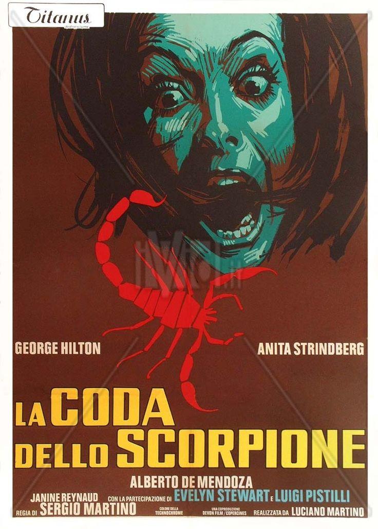 """The Case of the Scorpion's Tail (1971) """"La coda dello scorpione"""" (original title) Stars: George Hilton, Anita Strindberg, Alberto de Mendoza ~ Director: Sergio Martino"""