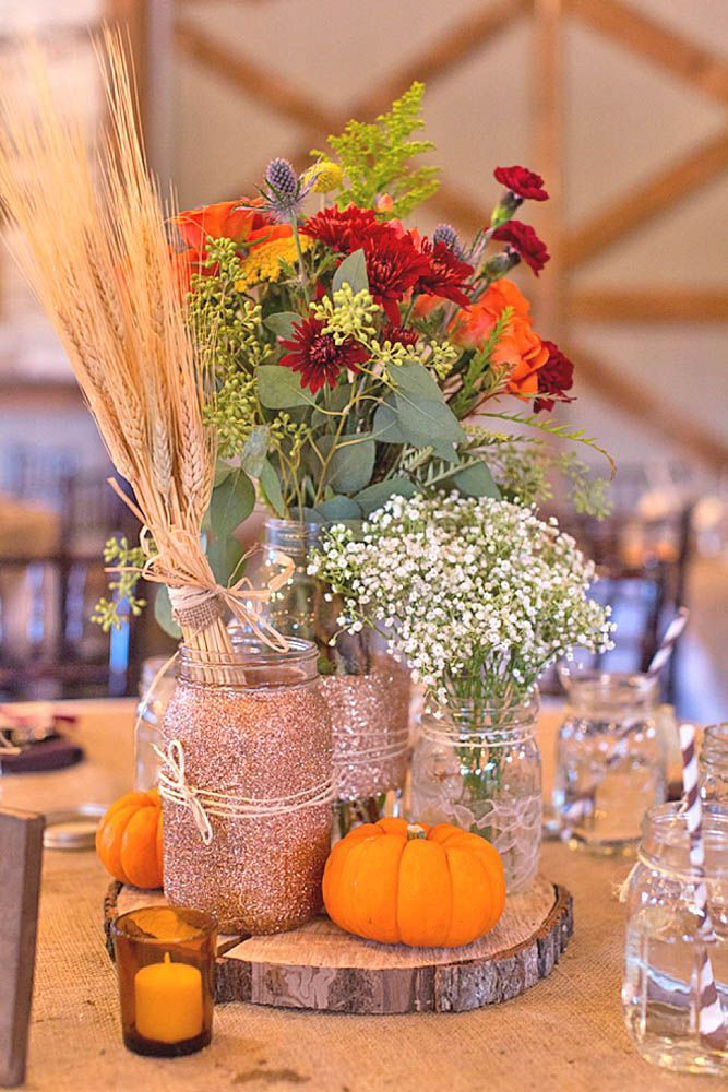 Best 25 fall wedding decorations ideas on pinterest for Autumn wedding decoration ideas