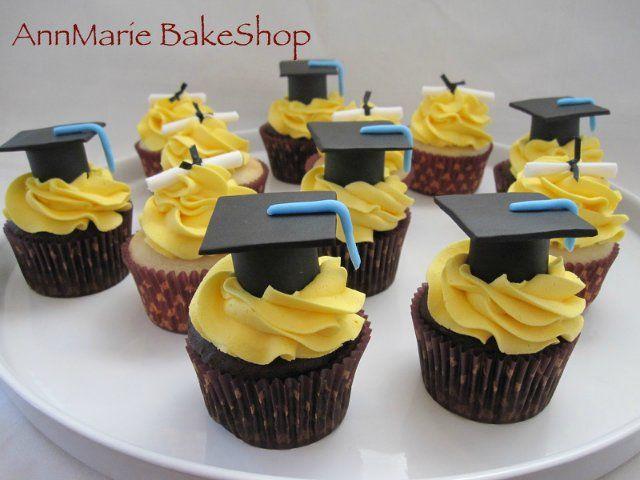 Пирожные «Магистерская шапочка» - кексы на выпускной. Мастер-класс | Домохозяйка
