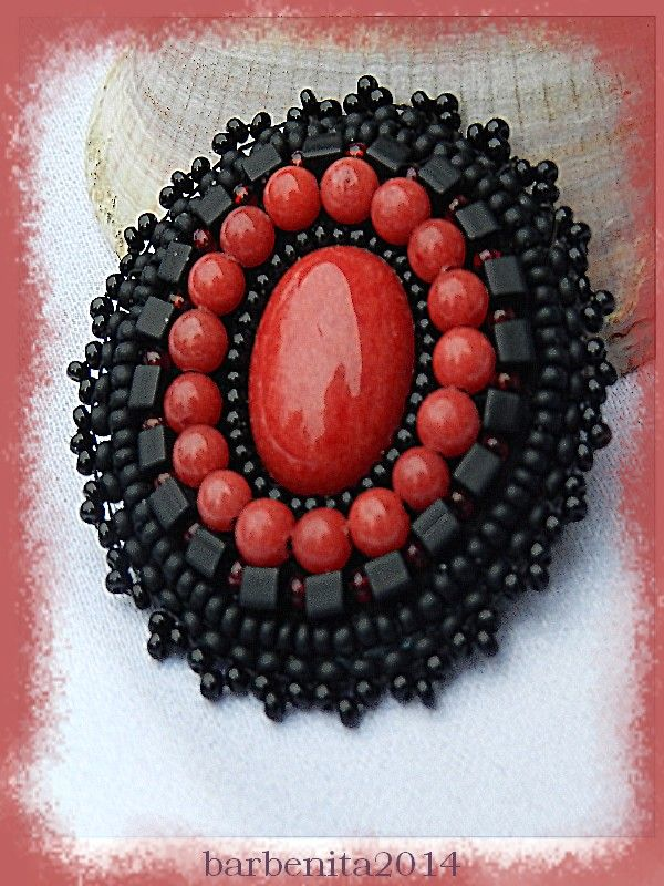 Bead embroidery - Jade