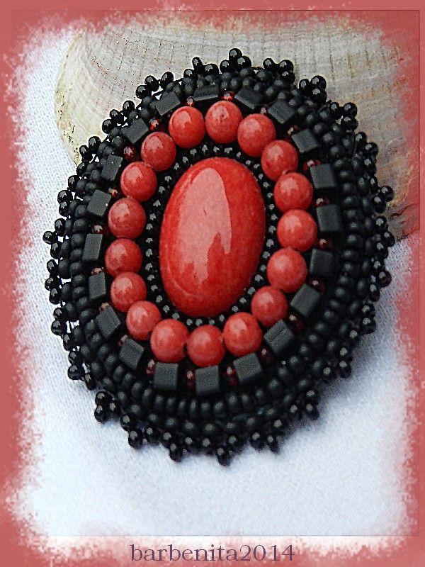 Bead embroidery - Jade