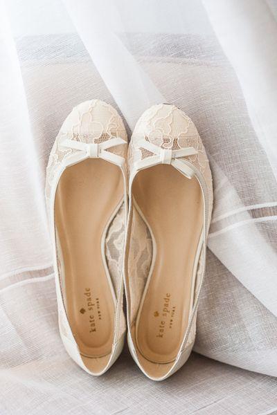 lace wedding flats | Jennifer Lindberg