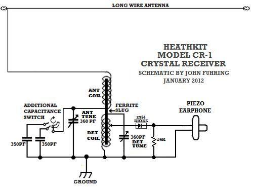 74 best crystal radio images on pinterest radios ham radio and rh pinterest com FM Crystal Radio Construction Easy Crystal Radio Schematics