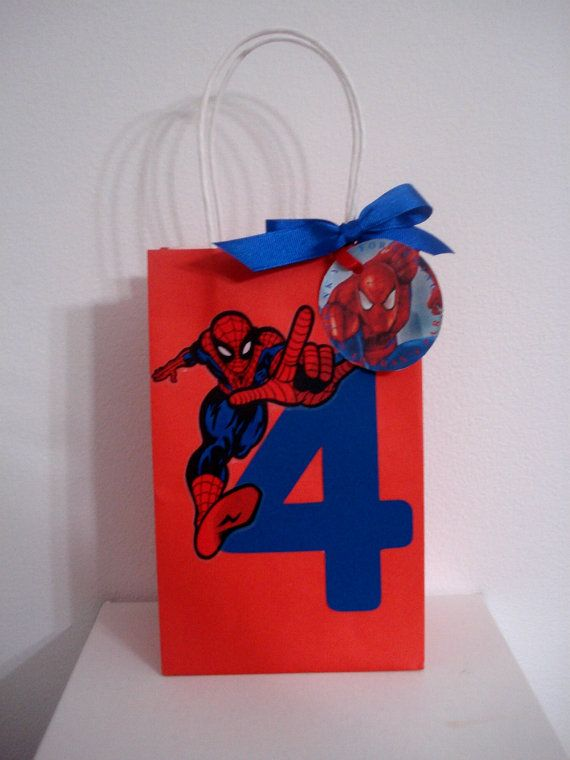 Spiderman Favor Bags by ThePartyGlamBoutique on Etsy, $2.75