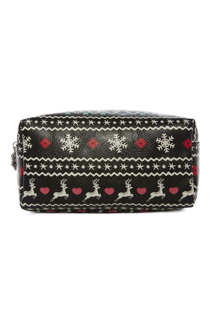Christmas Fairisle Print Make Up Bag