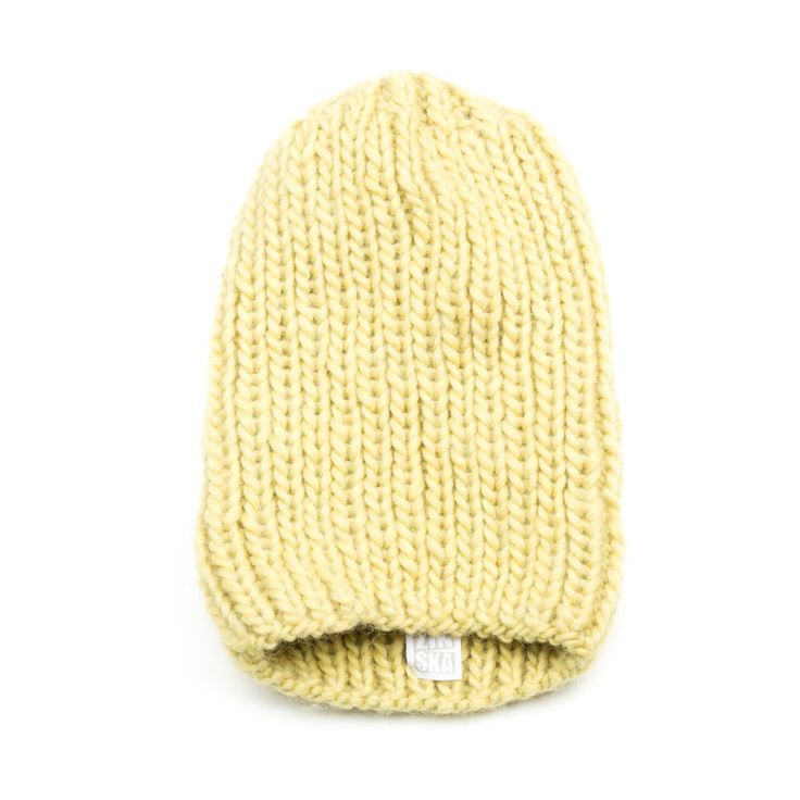 Anna Dudzińska, CONCRETE GREEN, aw2015, beanie NIRU (canary yellow). To download high or low resolution product images view Mondrianista.com (editorial use only).