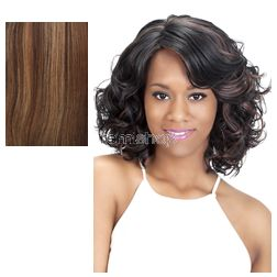 Vivica Fox Pure Stretch Cap Asante - Color P4/27/30 - Synthetic (Curling Iron Safe) Regular Wig