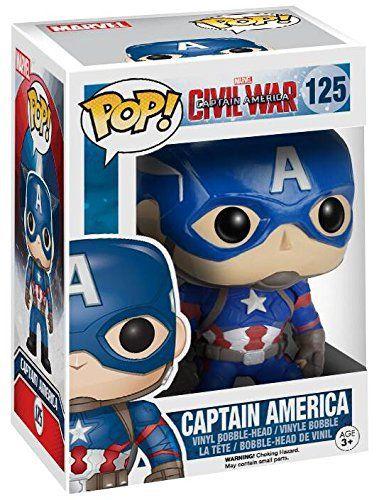 Captain America Civil War Captain America Vinyl Bobble-Head 125 Figurine de collection: Captain America Civil War 'Captain America Vinyl…