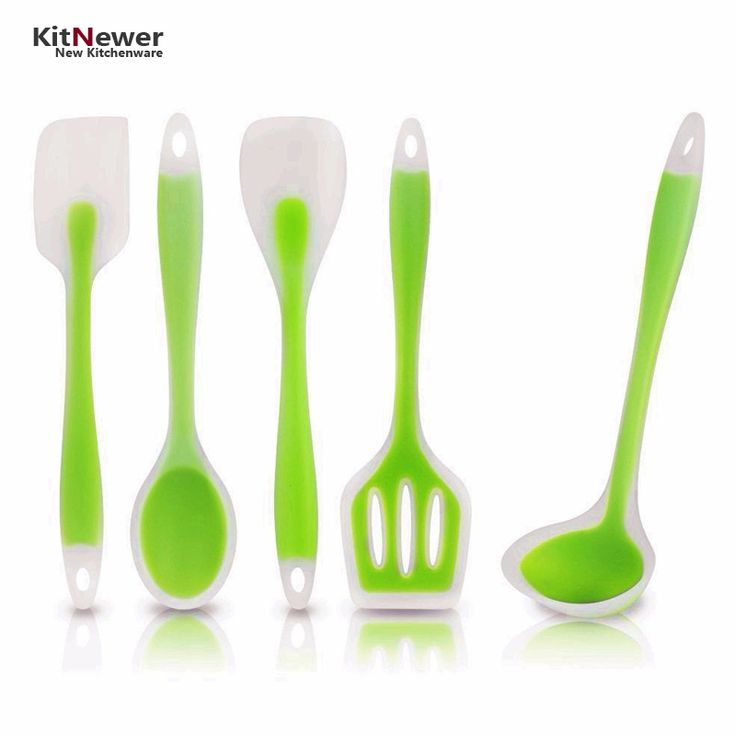 cooking Spatula Turner Spoonula Mixing Spoon Slotted Spoon Ladle 5pcs kitchen silicone cooking tools kitchen utensil set