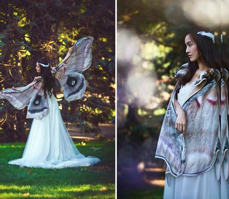 If you loved Bored Panda's post about bird wing scarves, then you're in for a treat! Spanish costume designer Alassie, of El Costurero Real, has designed light muslin scarves with beautiful, realistic, butterfly wing prints. Always wanted to be a fairy? Well now you can be the envy of all your wingless friends!