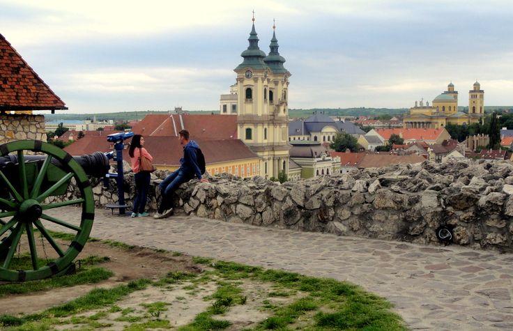 Eger Castle Terrace in Eger, Hungary