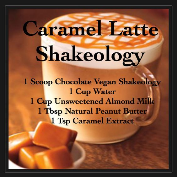 Caramel Latte Shakeology made with Chocolate Vegan Shakeology