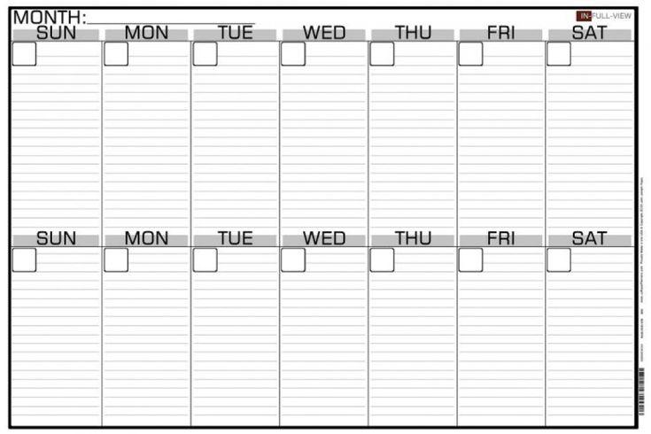 Printable 2 Week Calendar Planner Templat Printable 2 ...