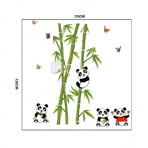 pared calcomanías pegatinas de pared, panda y bambú pegatinas de pared del pvc 2016 – €8.81