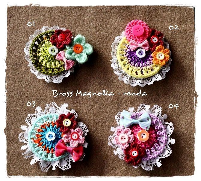 crochet brooch..named 'magnolia'