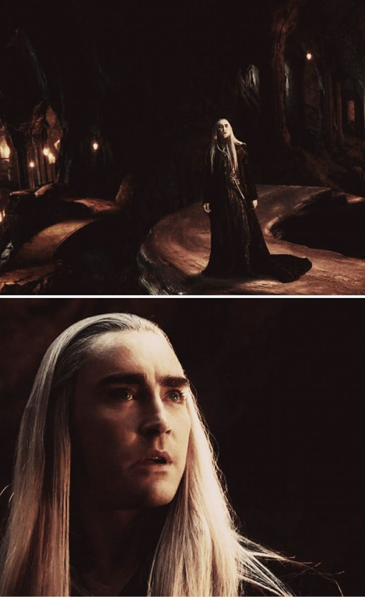 Thranduil looking for stars on a dark, dark night...