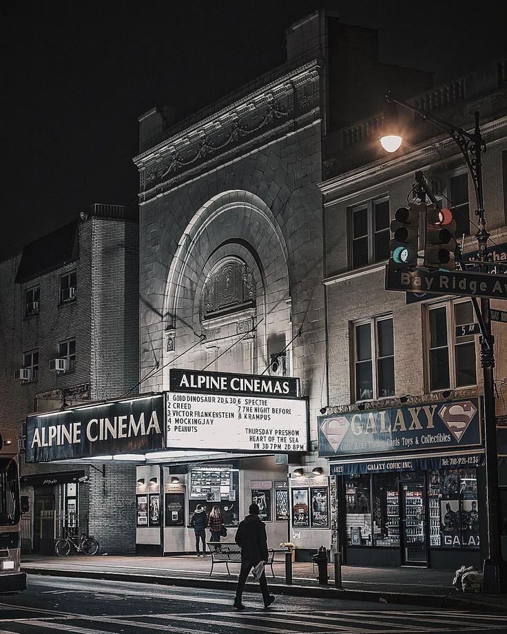 Alpine Cinemas : the only one classic movie theater that survives in Bay Ridge, Brooklyn. #bayridge #brooklyn #newyork