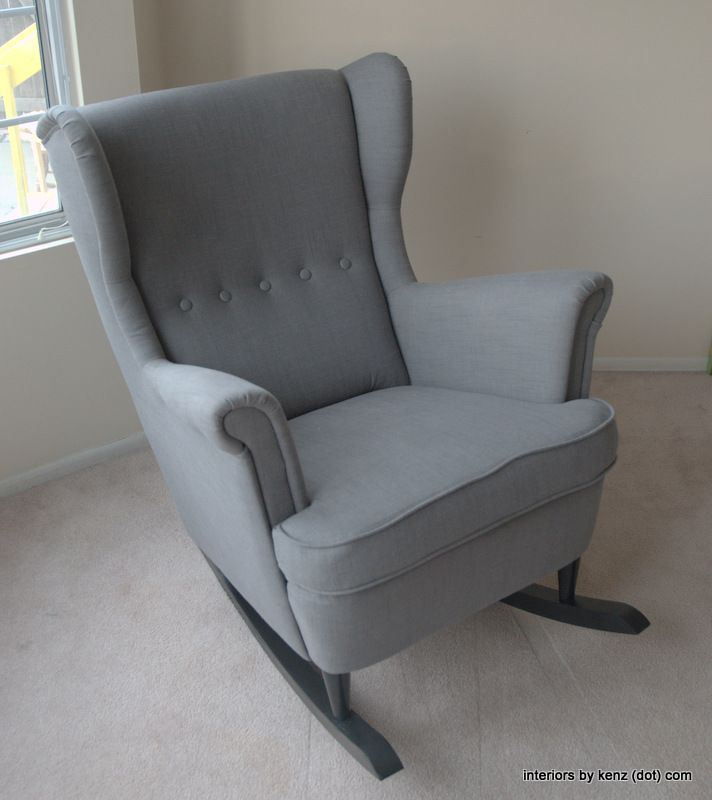 ... Rocker {DIY Wingback Rocking Chair}  A mod, Rockers and Ikea chair