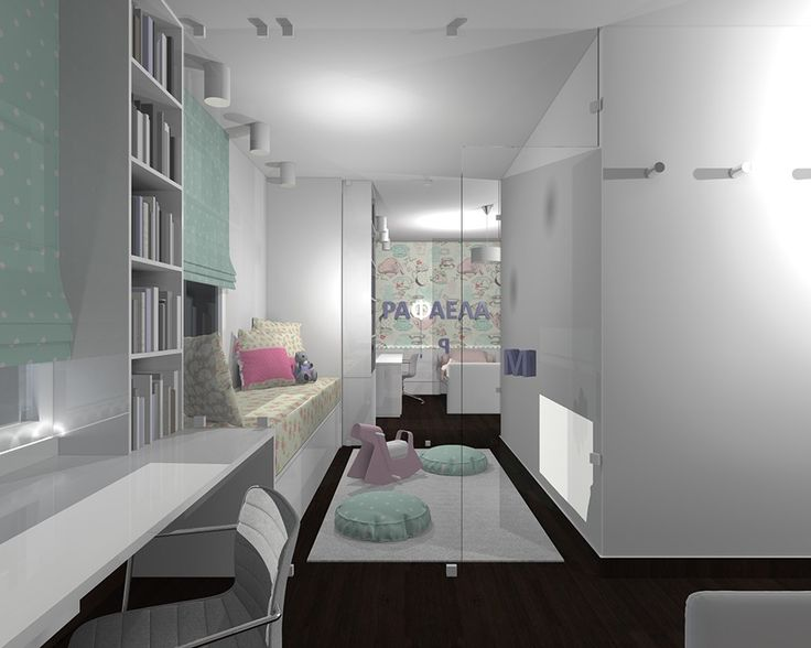 kids' double bedroom bridged with a small playroom