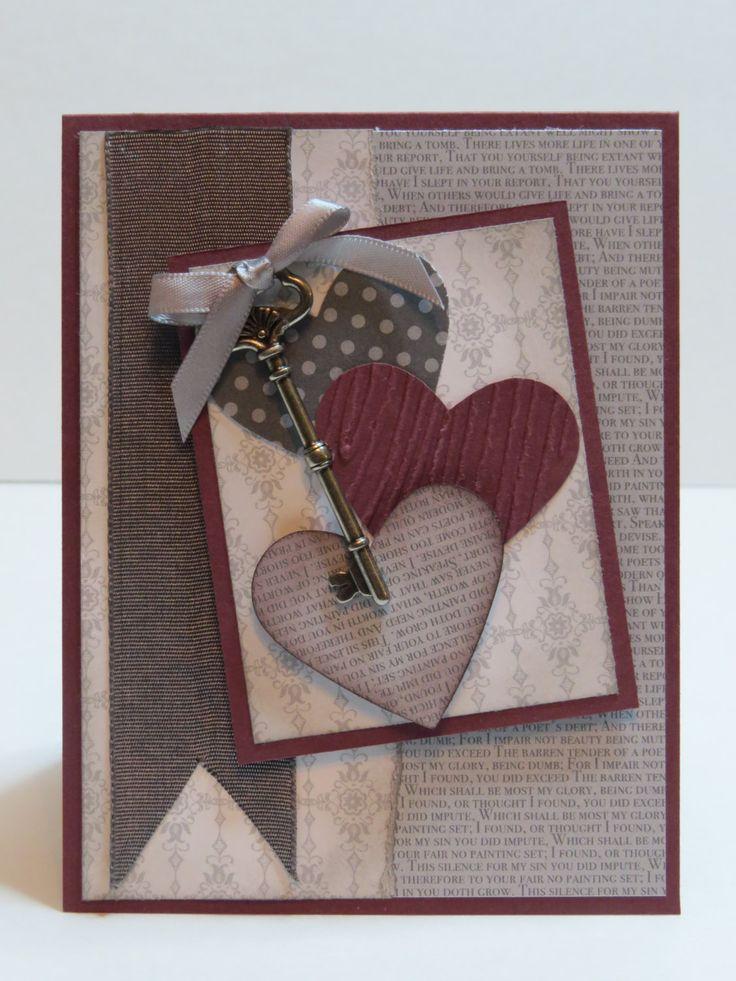 Carte de voeux, de remerciement ou de St-Valentin «La clé de mon coeur» Stampin' Up! de la boutique Lamainalacarte sur Etsy