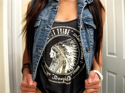 yea im a bad chick !  lolDenim Vests, Fashion, Jeans Jackets, Style, Clothing, Shirts, Jeans Vest, Jean Vest, Dreams Closets