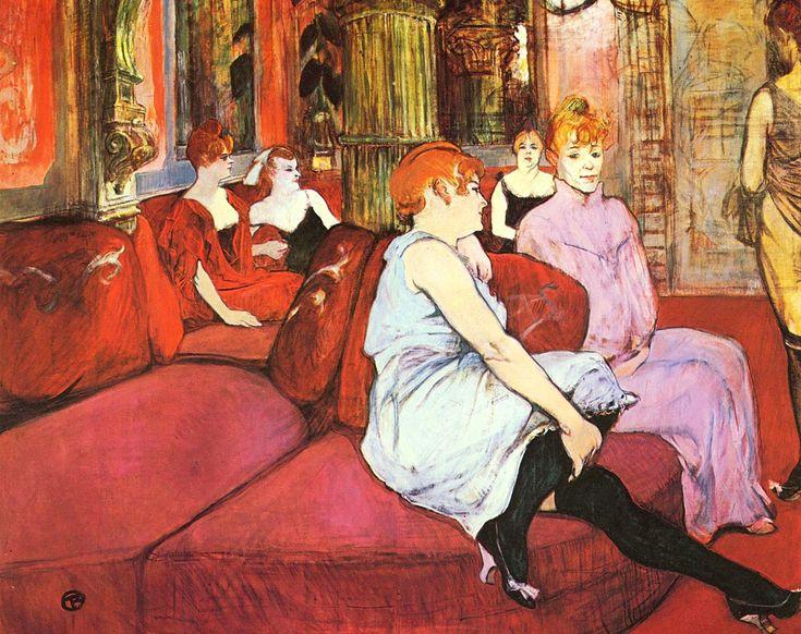 Analisi di alcuni quadri di Toulouse Lautrec che hanno prostitute come soggetti centrali. In particolare: Al Salon di rue des Moulins e Il Divano.