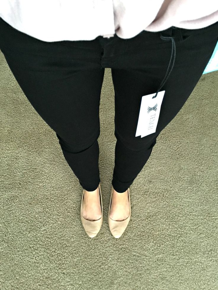 JUST BLACK Dean Skinny Jean from Stitch Fix: October 2015 Review |www.pearlsandsportsbras.com|