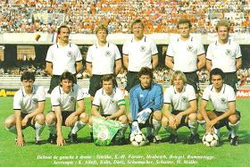 West Germany team line up at Euro '80.