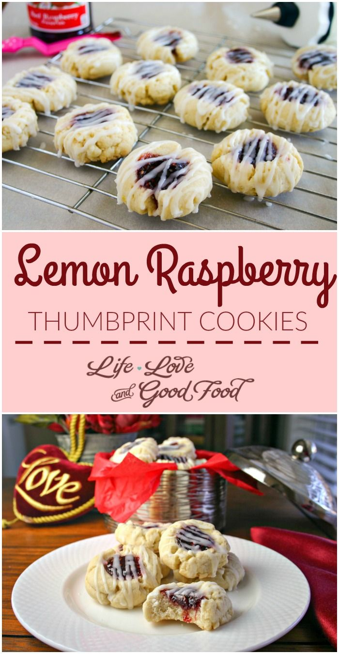 Lemon Raspberry Thumbprint Cookies | Life, Love, and Good Food #FoodBloggerLove