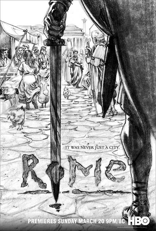 HBO Rome series ad advertising concept sketch sketching season 1 by Phil Roberts