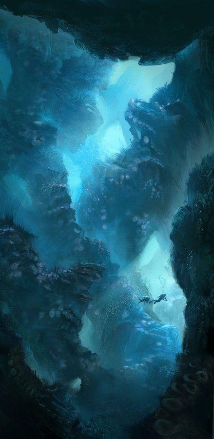 Deep sea chasm