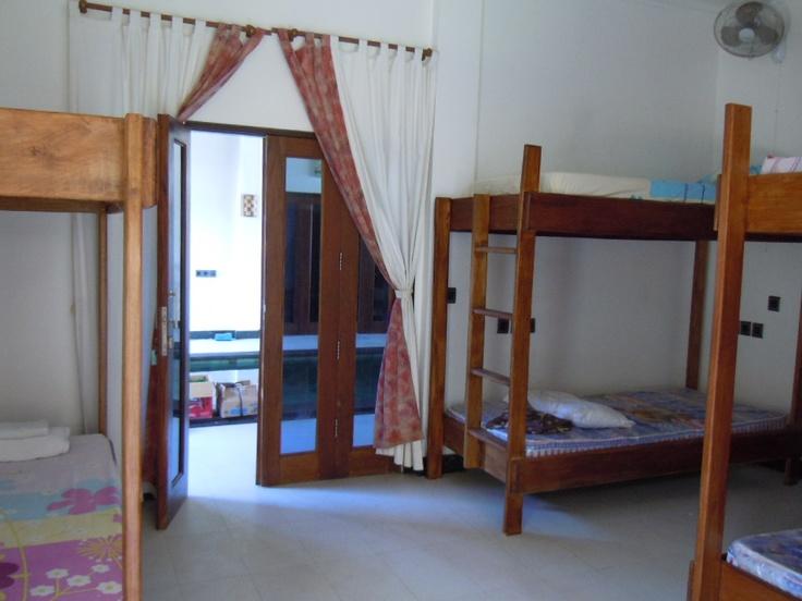 The student dorm room at Lutwala Dive