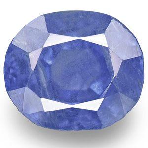 1.71-Carat Oval-Cut Velvety Blue Kashmir-Origin Sapphire (GIA)