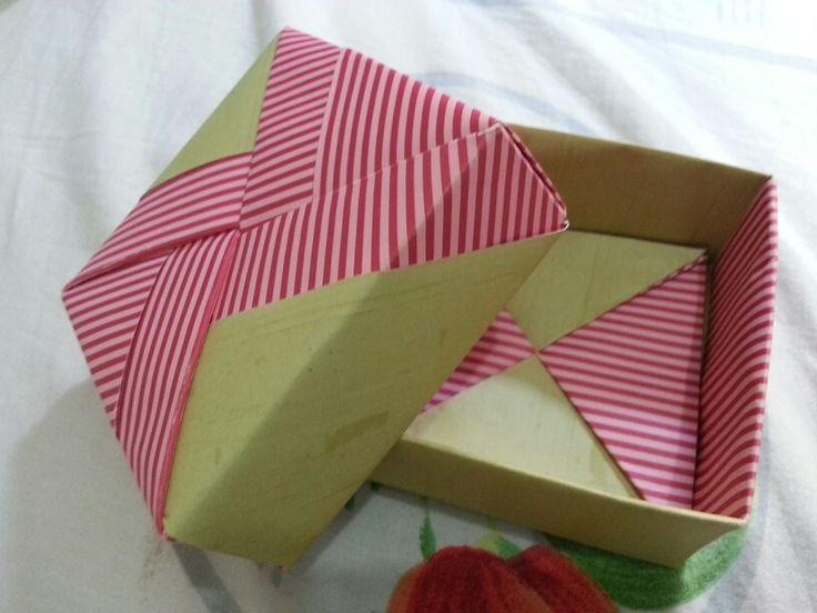 Kotak kado origami, gift box buatan tangan #handmade #diy