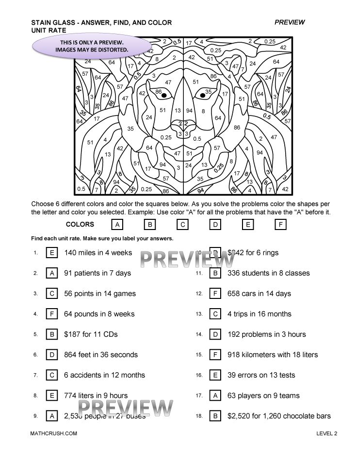 Free Worksheets Library Download and Print Worksheets – Unit Rates Worksheet