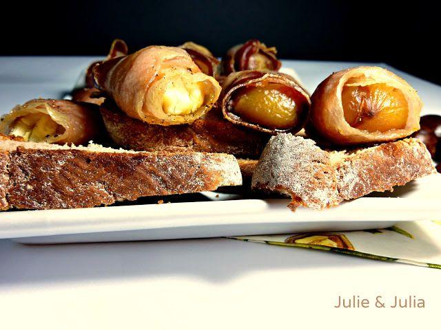 Julie & Julia: esperimenti in cucina: Involtini di castagne e pancetta