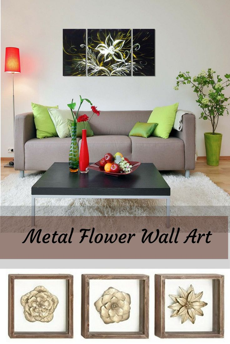 I love the look of metal flower wall art.  It is unique as it combines metal and florals to make beautiful patterns and paintings.  You can find these beautiful wall art sculptures and aluminum metal wall art in beautiful homes all over the world.  Combin