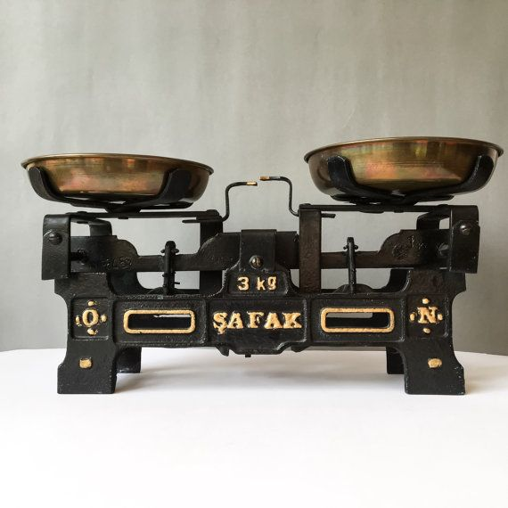 Vintage Industrial Safak Balance Scale Cast Iron and by RosieFleur