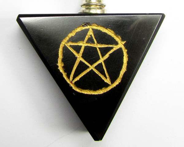 hematite pentagram pendulum 332 cts gt2279