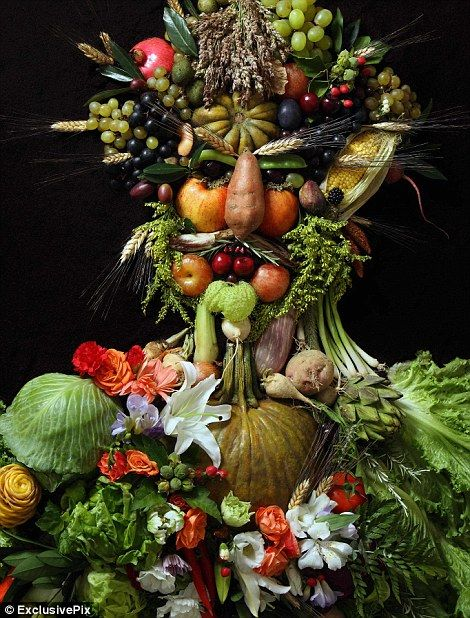 Getting his five a day: A portrait of Holy Roman Emperor Rudolf II as the Roman God of the seasons Vertumnus