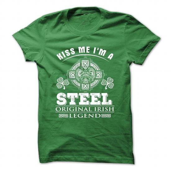 Kiss Me I Am STEEL T Shirts, Hoodies, Sweatshirts. CHECK PRICE ==► https://www.sunfrog.com/Camping/8-Kiss-Me-I-Am-STEEL.html?41382