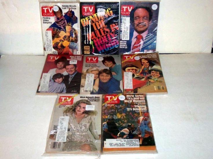 8 1982 TV Guides World Series, Three's Company, Dukes of Hazard, Sherman Hemsley