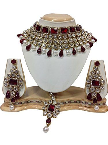 Indian Traditional Gold Plated Maroon Stones CZ Kundan Pa... https://www.amazon.com/dp/B01KBV053O/ref=cm_sw_r_pi_dp_x_x4wOybC8XSZHG